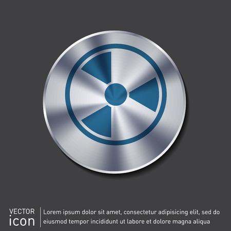 poison symbol: nuclear danger icon Illustration