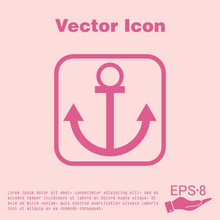 seafaring: Nautical Anchor vector. anchor seafaring character. icon marine instrument Illustration