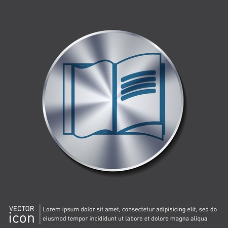 open book icon: Open book icon