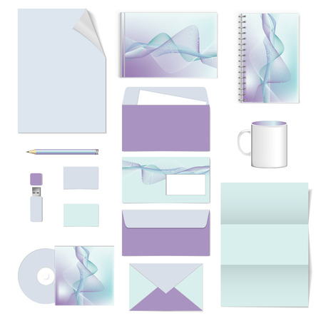 documentation: corporate identity. stationery template design. Documentation for business. Vector illustration