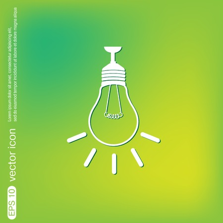 energysaving: lightbulb sign. character ideas. incandescent lamp . icon of electric light