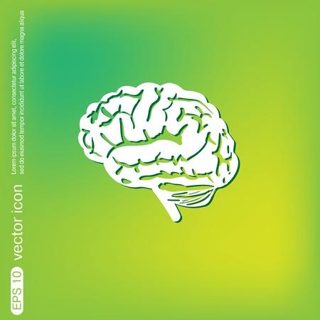 mente: Icono del cerebro. La mente y la ciencia