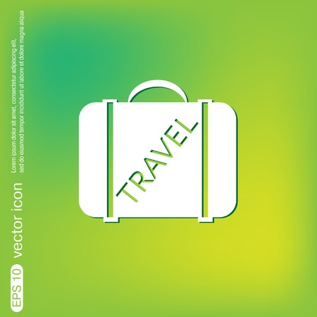 packing suitcase: symbol of a suitcase for travel. Travel Bag