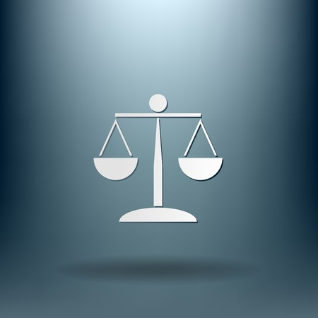 scales of justice icon. symbol of justice Illustration