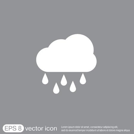 weather icon. cloud rain.