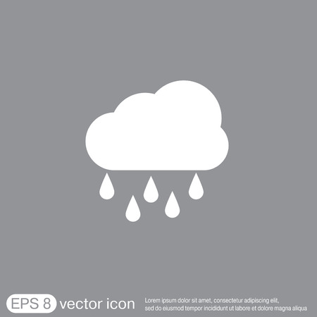 weather icon. cloud rain.