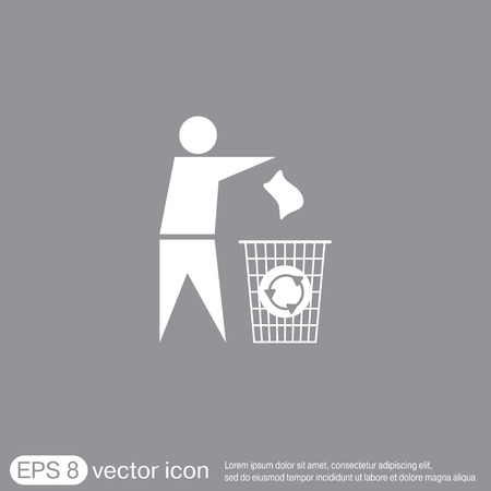 refuse: do not litter icon