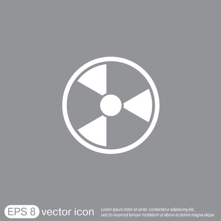 reactor: nuclear danger icon Illustration