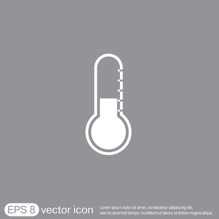 warm up: thermometer icon . temperature symbol