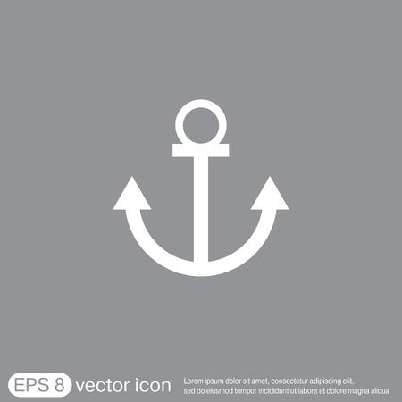 ancla: Nautical vector del ancla. anclar carácter marinero. icono instrumento náutico