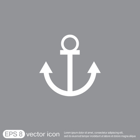 ancre marine: Nautique vecteur Anchor. ancrer caract�re maritime. instrument de marine ic�ne