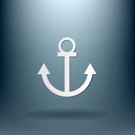 water anchor: Nautical Anchor vector. anchor seafaring character. icon marine instrument Illustration