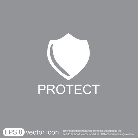 escudo: escudo, un s�mbolo de protecci�n. proteger Vectores