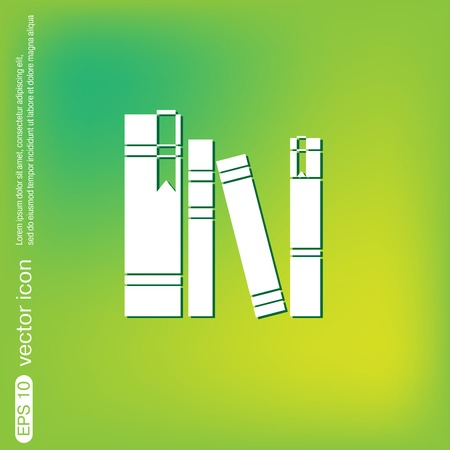 book spine, spines of books. icon symbol of a science and literature Illustration