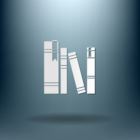 spines: spines of books icon Illustration
