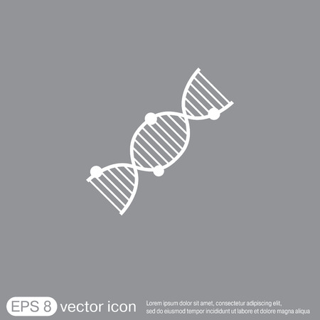 dna helix: DNA helix icon Illustration