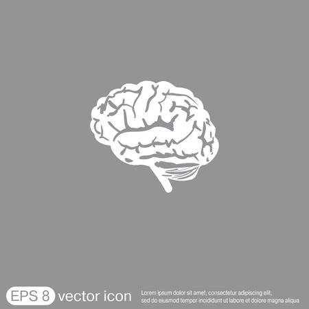 brain icon: Brain icon. Mind and science Illustration