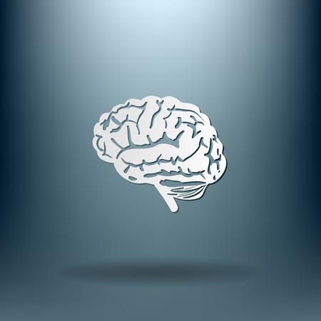 brain icon: Brain icon. Mind and science Illustration
