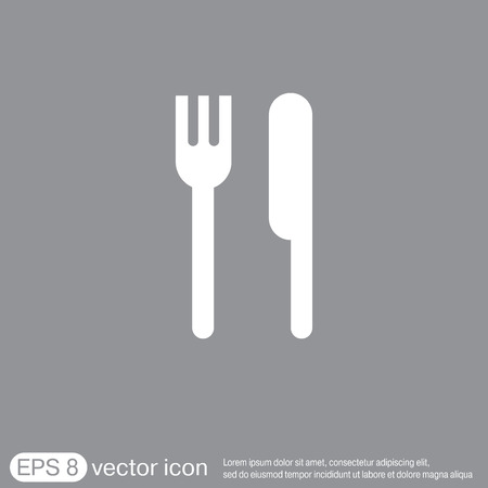 of food: fork and knife sign. symbol lunch . cutlery