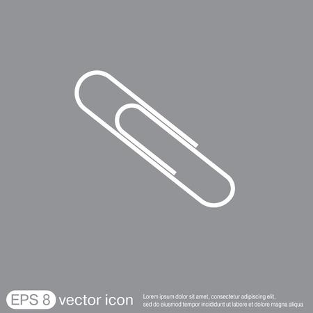 fastener: paper clip icon, a symbol of office Illustration
