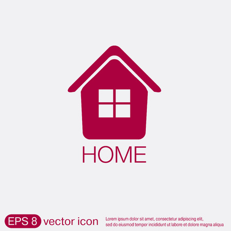 intern: House icon. Home sign