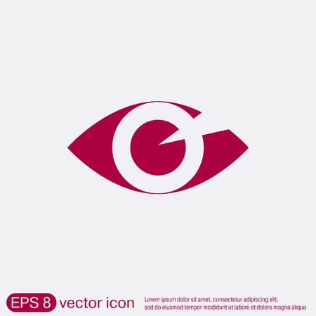 Augensymbol Illustration