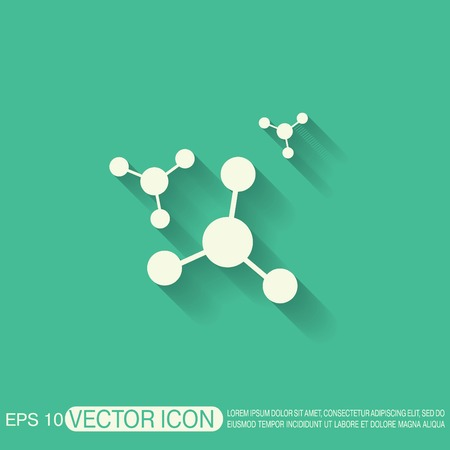 Atom Molecule The Symbol Of Physics And Chemistry Symbol Icon