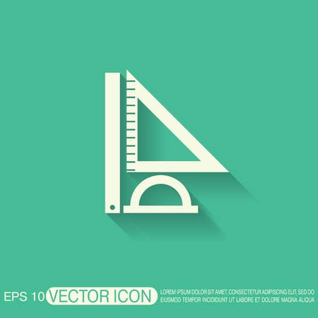 Ruler Protractor Triangle Symbol Of Geometry And Mathematics