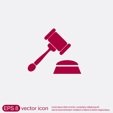 gavel . icon law. symbol of justice and judgment.
