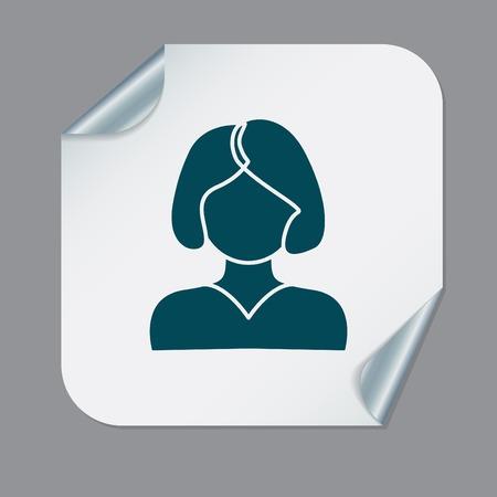 cola mujer: Un avatar femenino. chica con el pelo de la cola. Avatar de una mujer