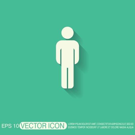 personen: silhouet van een man