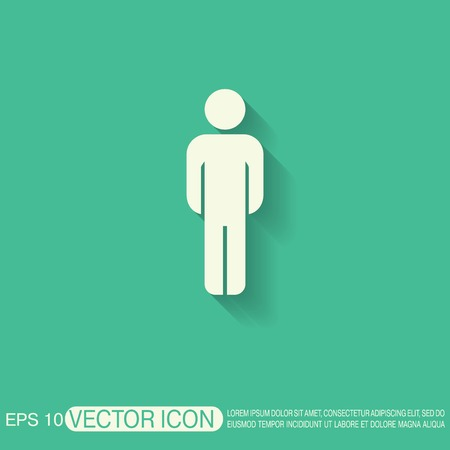 communication icon: silhouette of a man Illustration