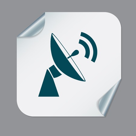 Satellitenschüssel-Symbol. Radar Zeichen. Antennensymbol Lizenzfrei ...