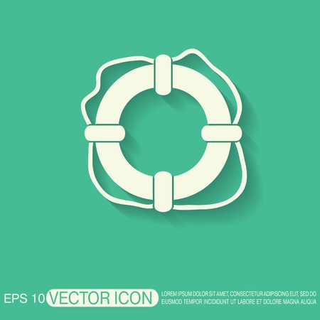 preserver: lifebuoy icon Illustration