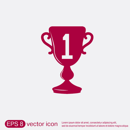 award trophy: cup for first place icon