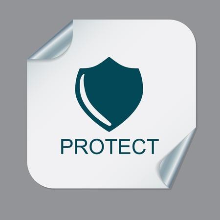 guardia de seguridad: escudo, un símbolo de protección. proteger Vectores