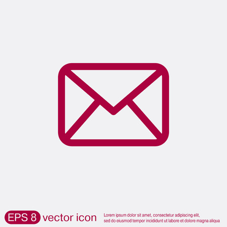 postal envelope sign. e-mail symbol . icon envelope. Illustration