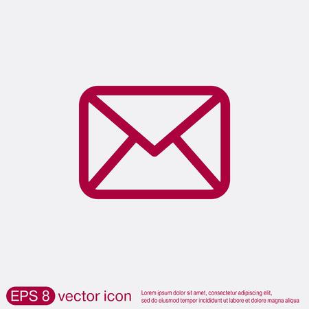signe enveloppe postale. symbole e-mail. icône enveloppe. Illustration