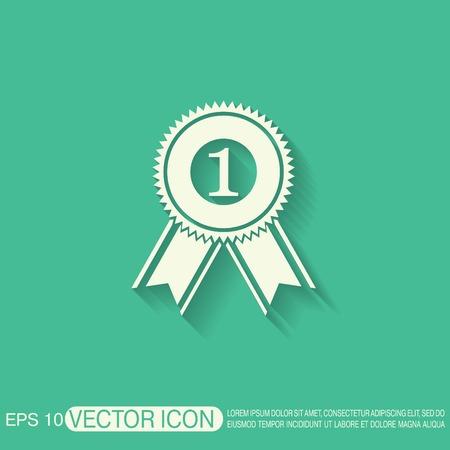 lugar: primer lugar icono Roset�n de la cinta. icono de la victoria