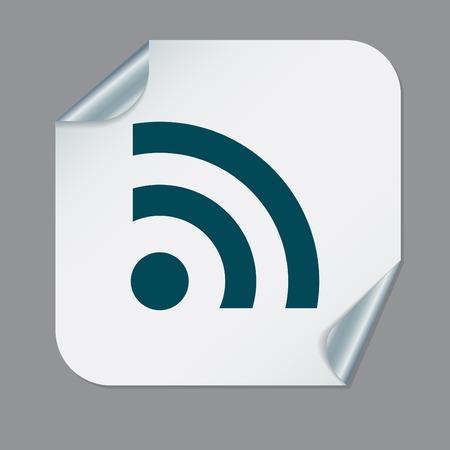 rss symbol. character news symbol.