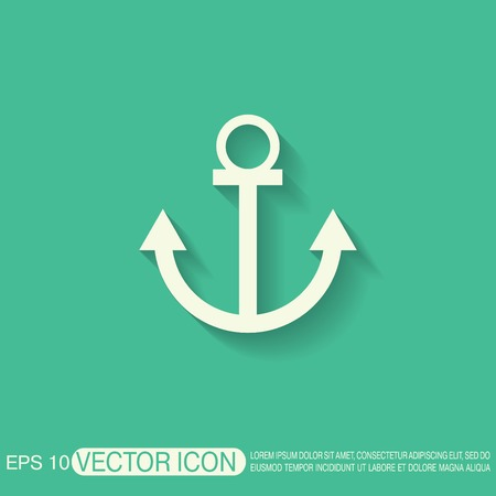 anchor: Nautical Anchor vector. anchor seafaring character. icon marine instrument Illustration