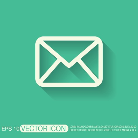 envelope: postal envelope sign. e-mail symbol . icon envelope. Illustration
