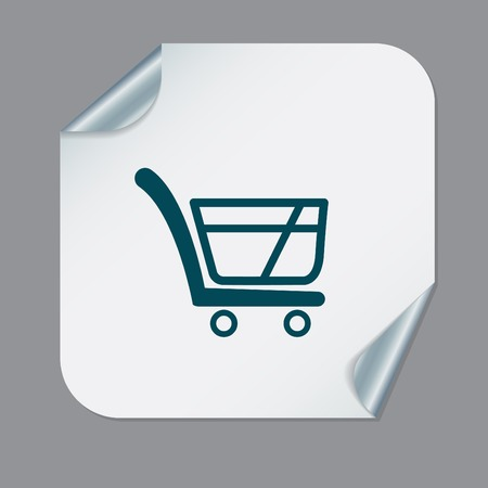 simple store: shopping cart icon. vextor illustration. cart online store, Internet shop. basket shopping