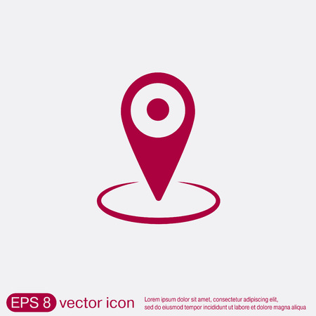 pin location on the map. local pin