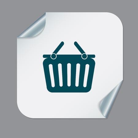 shopping cart icon. vextor illustration. cart online store, Internet shop. basket shopping Vector