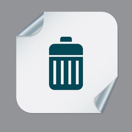 dumpster: basket garbage, recycling Illustration