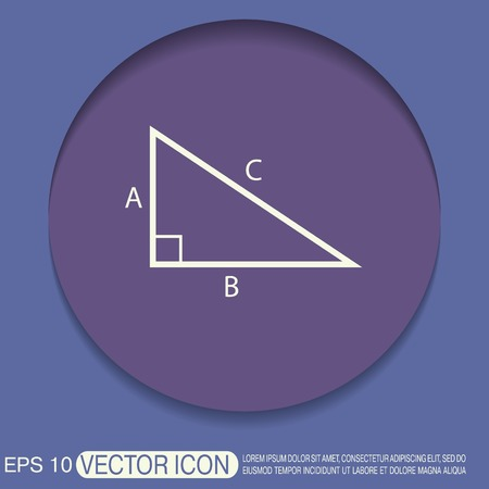 matematicas: icono matem�ticas tri�ngulo. s�mbolo icono geometr�a. el aprendizaje de matem�ticas