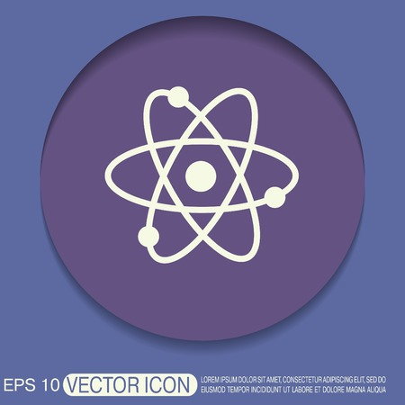 chemistry: atom, molecule. the symbol of physics and chemistry. symbol icon of physics or chemistry . the study of science