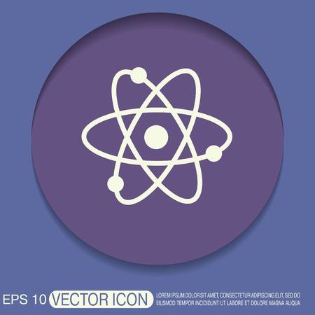 qu�mica: �tomo, mol�cula. el s�mbolo de la f�sica y la qu�mica. S�mbolo del icono de la f�sica o la qu�mica. el estudio de la ciencia