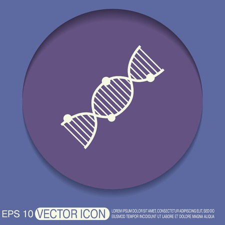 DNA helix icon. Medical Research character. Symbol of medicine. Icon Biology and Genetics Vector